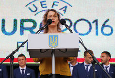 Ambassador of France to Ukraine Isabelle Dumont Royalty Free Stock Image