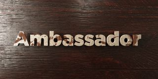 Ambassador - grungy wooden headline on Maple  - 3D rendered royalty free stock image Stock Photo