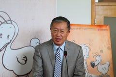 Ambassador osoby republika Chiny republika Mauritius, Mr Li Li mówienie Zdjęcie Stock