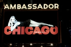Ambassador Theater home of Chicago Stock Photo