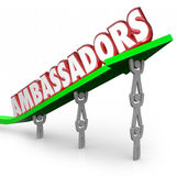 Ambassadors 3d Words People Lifting Arrow Diplomats Representati Royalty Free Stock Images