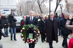 The ambassadors of the EU countries at the funeral of Boris Nemtsov Stock Photo