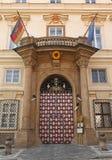 ambassadtysk prague Royaltyfri Bild