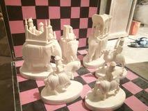 Ambawadi de Rajasthani do grupo de xadrez do rei Imagem de Stock