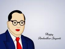 Ambedkar Jayanti background. Illustration of Dr. B. R. Ambedkar for Ambedkar Jayanti Stock Photos
