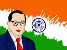Ambedkar Jayanti background. Illustration of Dr. B. R. Ambedkar for Ambedkar Jayanti Stock Photography