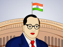 Ambedkar Jayanti background. Illustration of Dr. B. R. Ambedkar for Ambedkar Jayanti Stock Images