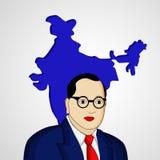 Ambedkar Jayanti background. Illustration of Dr. B. R. Ambedkar for Ambedkar Jayanti Royalty Free Stock Images