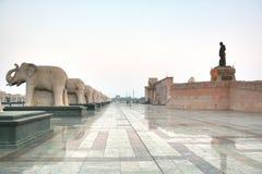 Ambedkar Memorial Park jest jawnym parkiem pomnikiem w Lucknow i, Uttar Pradesh, India Obrazy Stock