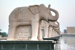 Ambedkar Memorial Park jest jawnym parkiem pomnikiem w Lucknow i, Uttar Pradesh, India Obraz Royalty Free