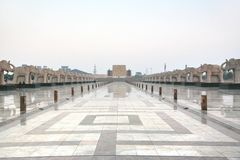 Ambedkar Memorial Park jest jawnym parkiem pomnikiem w Lucknow i, Uttar Pradesh, India Obrazy Royalty Free