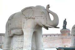 Ambedkar Memorial Park is a public park and memorial in Lucknow Uttar Pradesh India Royalty Free Stock Photo