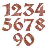 Amber ή αριθμοί σύστασης ρητίνης πεύκων Στοκ Φωτογραφία