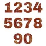 Amber ή αριθμοί σύστασης ρητίνης πεύκων Στοκ φωτογραφία με δικαίωμα ελεύθερης χρήσης