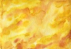 Amber, ορυκτή σύσταση watercolor Στοκ Εικόνες
