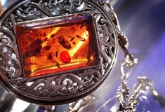 Amber. An amber bracelet from Poland Royalty Free Stock Photo