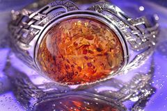 Amber. An amber bracelet from Poland Stock Photos