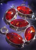 Amber. An amber bracelet from Poland Royalty Free Stock Photography