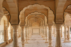 Amber. Detail of archs and columns at Amber Palace, near Jaipur, India Royalty Free Stock Photography