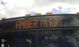 Amber Alert Royalty Free Stock Photo