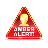 Amber Alert Warning Icon Illustration Fotografia Stock Libera da Diritti