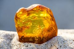 Amber on a beach of the Baltic Sea Royalty Free Stock Photo