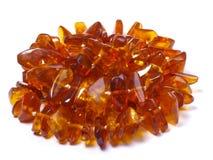 Amber bead Stock Image