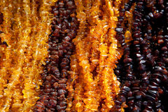 Amber beads Royalty Free Stock Photos