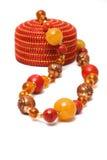 Amber beads Stock Photos