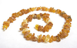 Amber beads Royalty Free Stock Images