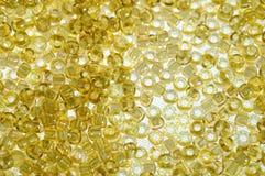 Amber beads background Stock Photo