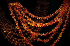 Amber beads in the market Royalty Free Stock Photos