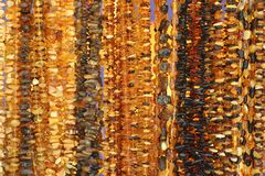 Amber beautiful beads Royalty Free Stock Photo