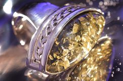 Amber bracelet. An amber bracelet in water from Poland close up Stock Image