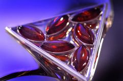 Amber bracelet. An amber bracelet in water from Poland close up Stock Images