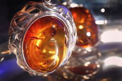 Amber bracelet. An amber bracelet in water from Poland close up Royalty Free Stock Image