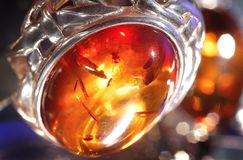 Amber bracelet. An amber bracelet from Poland close up Royalty Free Stock Photos