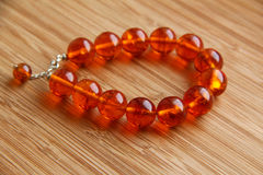 Amber Bracelet Stock Image
