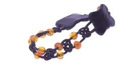 Amber bracelet Stock Images