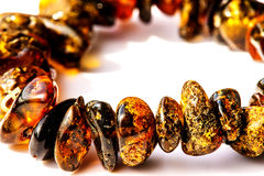 Amber bracelet Royalty Free Stock Images