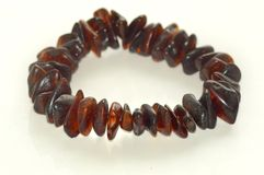 Amber bracelet Stock Photography