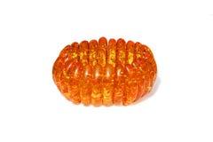 Amber bracelet isolated on white. Background Royalty Free Stock Image