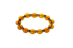Amber bracelet,jade Royalty Free Stock Photo