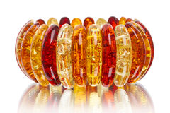 Amber bracelet Royalty Free Stock Photo