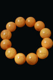 Amber bracelets beeswax crafts Stock Photo