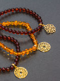 Amber bracelets. royalty free stock images