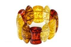 Amber bracelets Stock Images