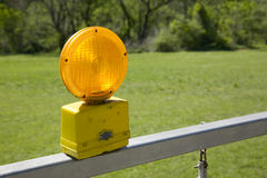 Amber Caution Light fotografia stock