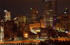 Amber City bij Nacht 3 Stock Fotografie