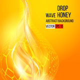 Amber drop honey. Abstract background. Vector Royalty Free Stock Photography